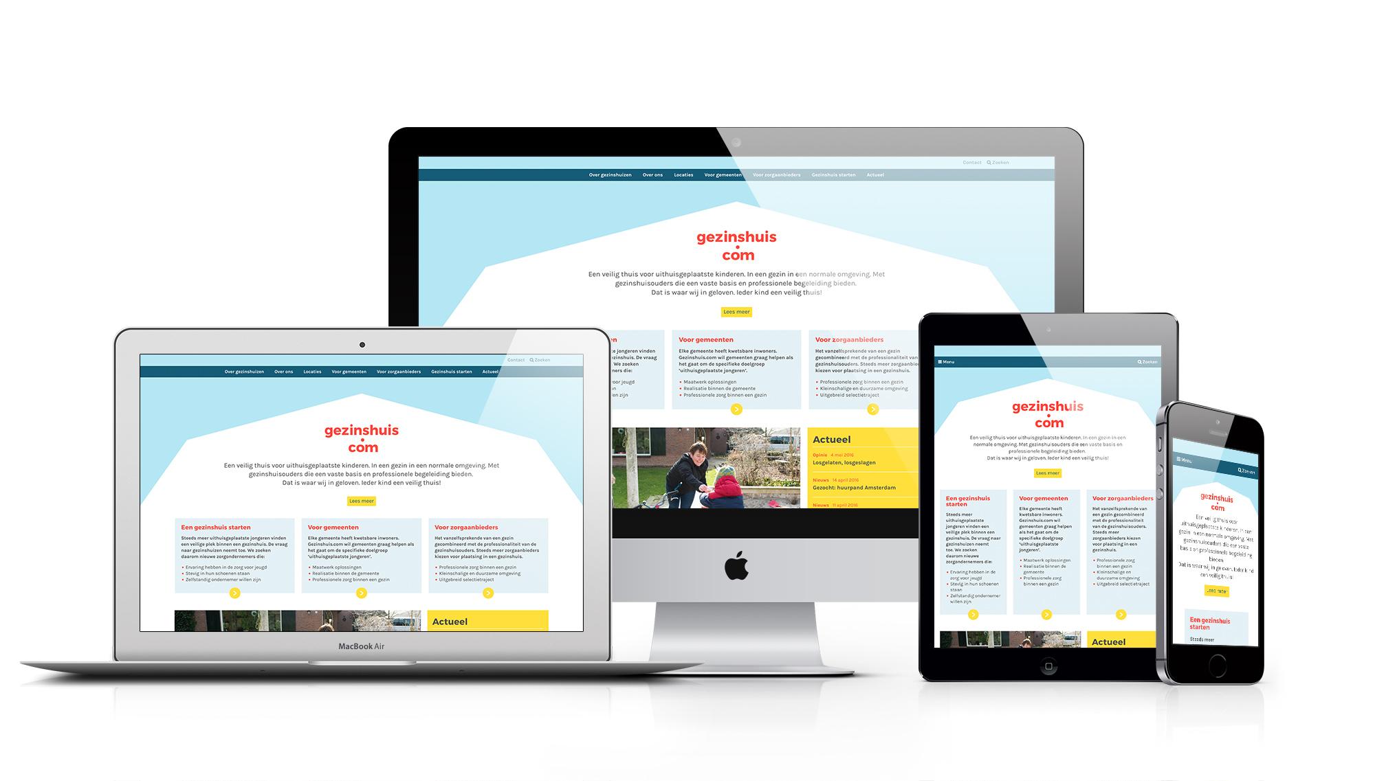 Gezinshuis.com website responsive
