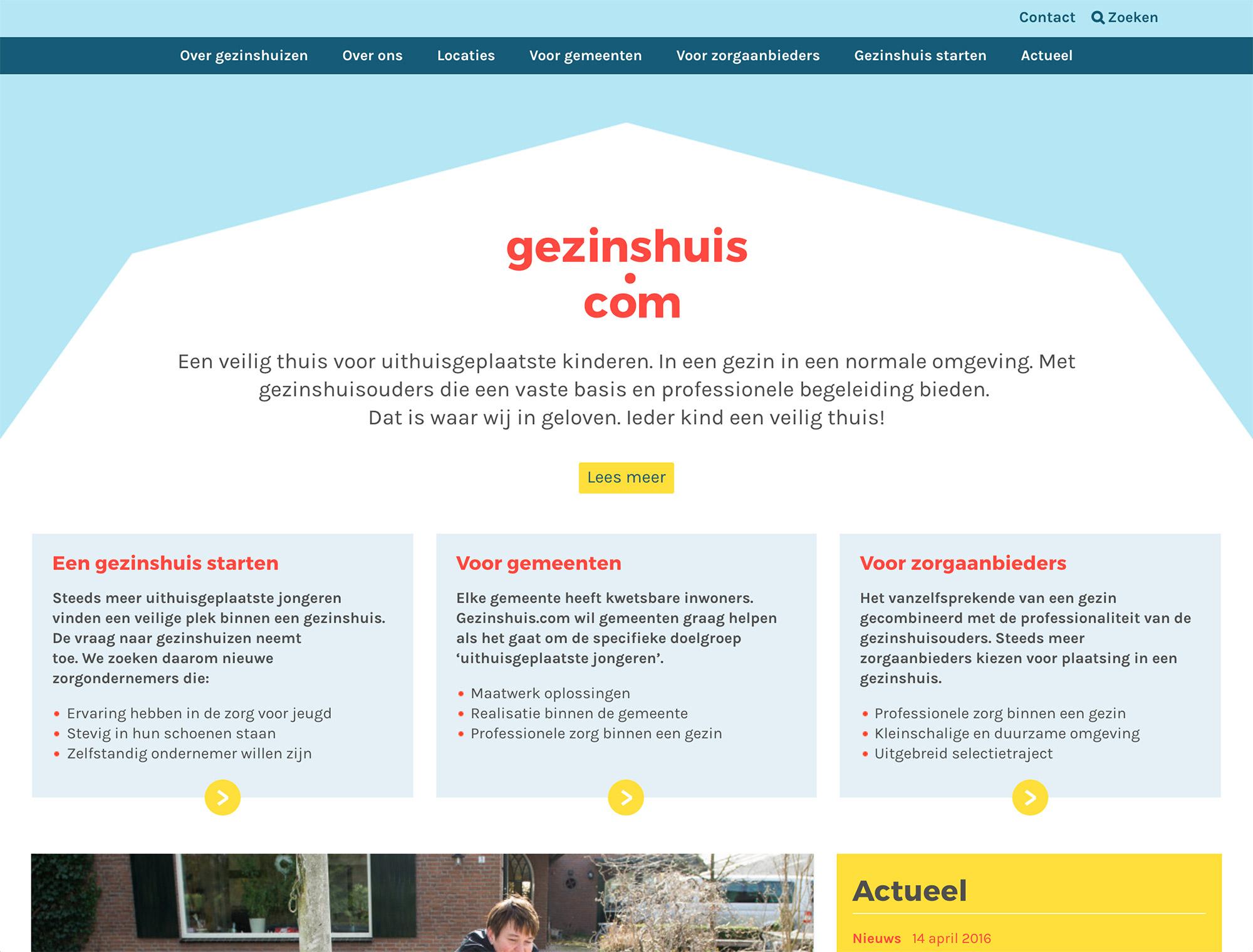 website gezinshuis.com design home