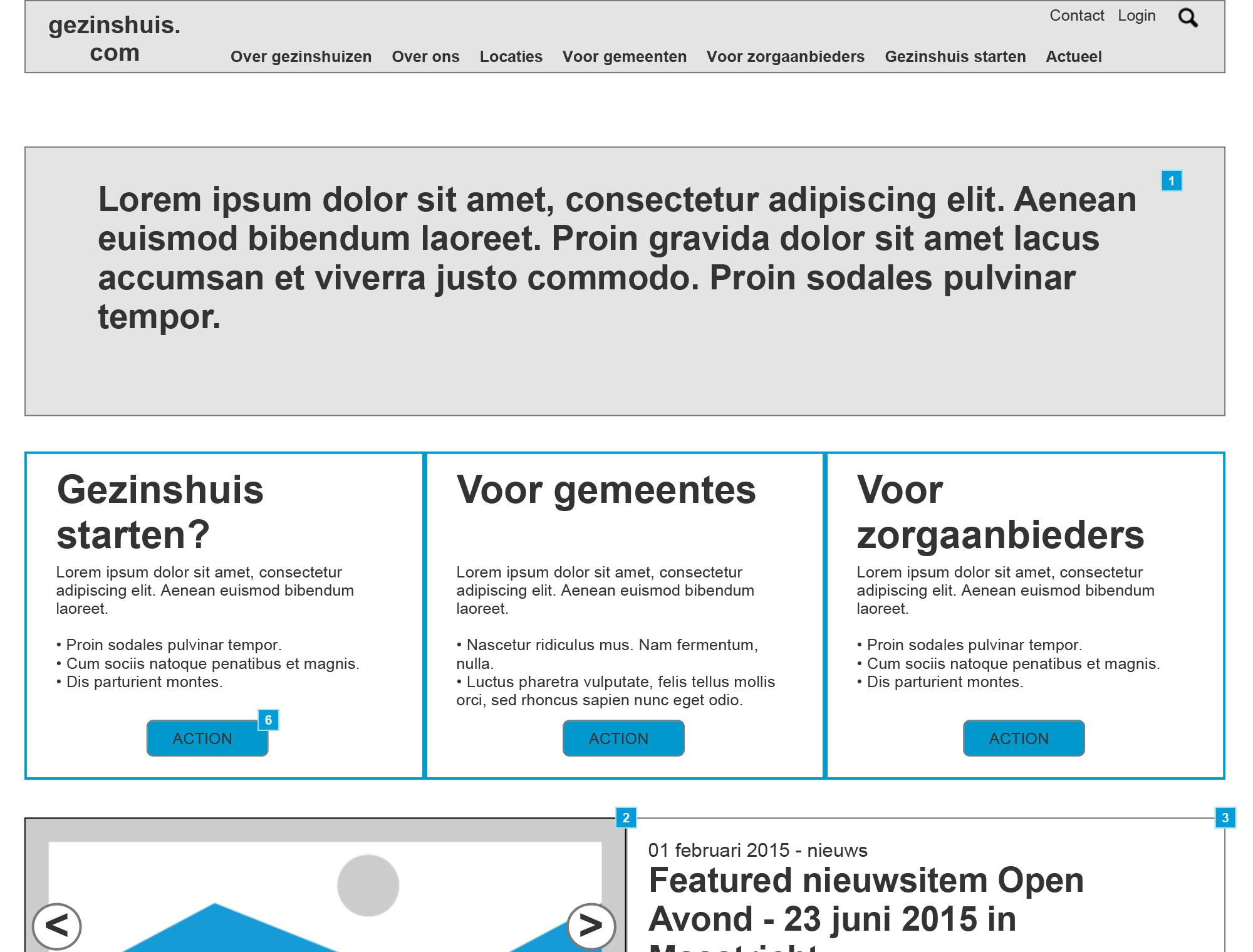 wireframe gezinshuis.com home
